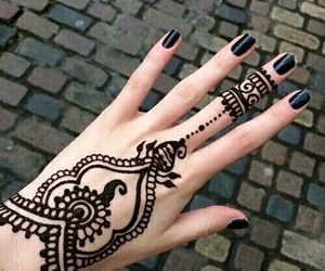 henna, black, and tattoo image