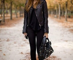 fashion, black, and outfit image
