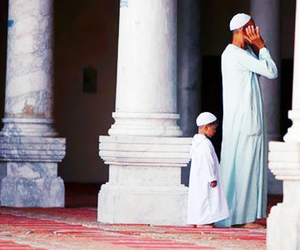 muslim, prayer, and son image