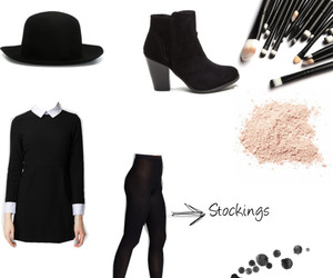 black, clothes, and look image