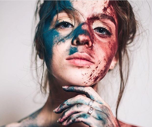 girl, art, and paint image