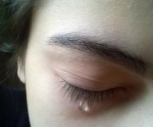 dark, eye, and eyebrow image