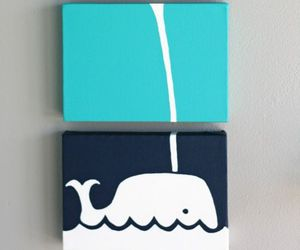 whale, diy, and blue image
