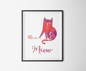cat, meow, and nursery image