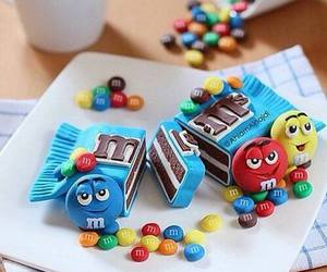 food, cake, and m&m image