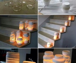 diy, light, and candle image