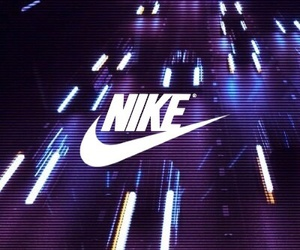 nike, wallpaper, and lights image