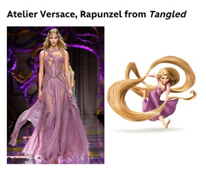 disney, dress, and rapunzel image