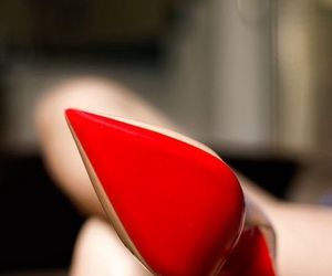 heels, red, and shoes image