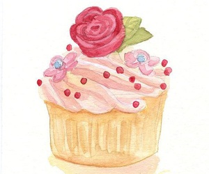 cupcake, illustration, and cute image