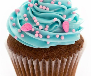 cupcake, blue, and pink image