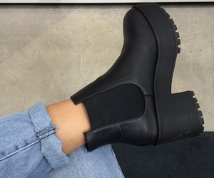 black, fashion, and boots image