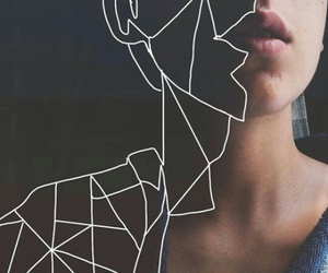 drawing, geometrical, and pale image