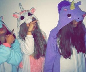 unicorn, friends, and purple image