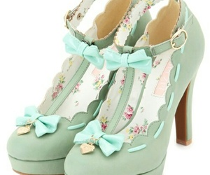 shoes, bow, and green image
