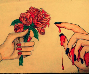 art, roses, and arte image