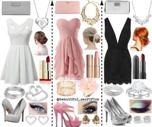 black, dress, and girly image