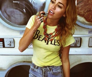 miley cyrus, miley, and the beatles image
