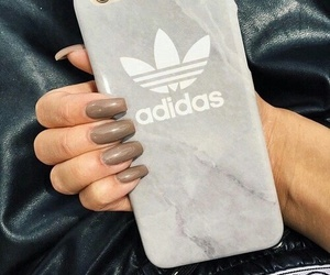 adidas, nails, and iphone image