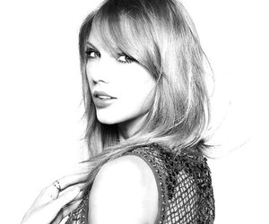 black and white, pretty, and Taylor Swift image