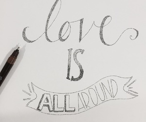black and white, dots, and handmade font image