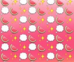 wallpaper, watermelon, and emoji image