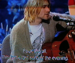 grunge, nirvana, and kurt cobain image