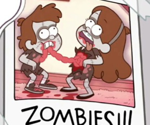 gravity falls, funny, and zombies image