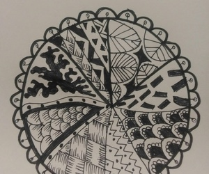 blackandwhite, bored, and doodle image