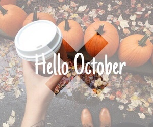 coffee, fall, and Halloween image