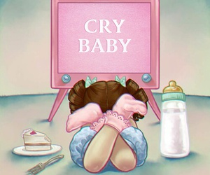 album, cry baby, and vintage image