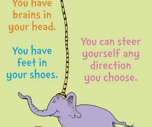 quotes, motivation, and Dr. Seuss image