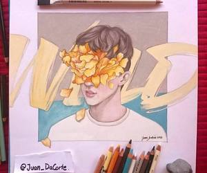 drawing, troye sivan, and wild image