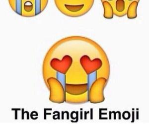 fangirl, emoji, and funny image