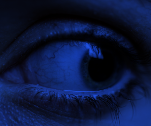 blue, eye, and grunge image