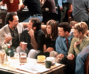 90s, chandler bing, and coffee house image