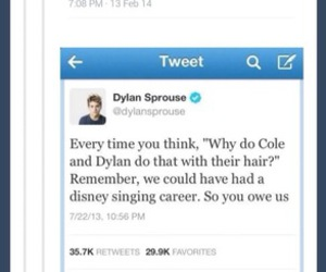 cole, twitter, and dylan image