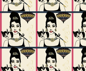 audrey hepburn, background, and Breakfast at Tiffany's image