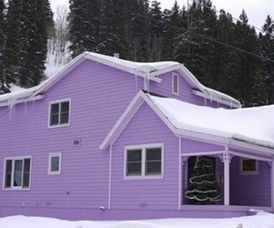 purple, house, and snow image