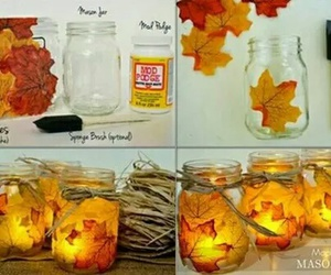 diy, candle, and fall image