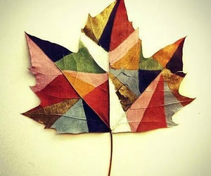 leaves, art, and autumn image