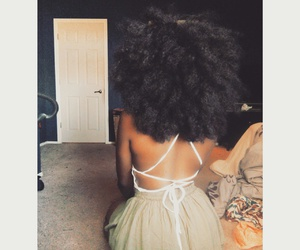 Afro, big hair, and black girls image