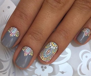 dots, grey, and nails image
