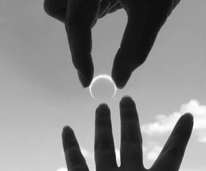 moon, ring, and sky image