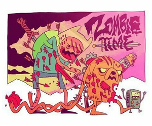 adventure time, zombie, and JAKe image