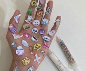emoji, hand, and emojis image