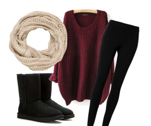 cozy, outfit, and fall image