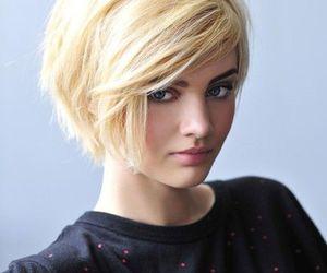 hair, blonde, and short hair image
