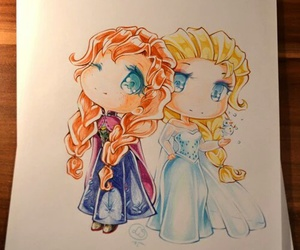disney, frozen, and art image
