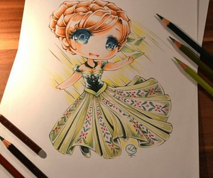 disney, art, and anna image